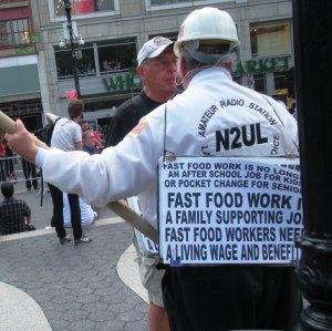 Union man back view