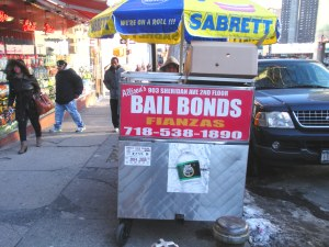 Bail bonds hot dog cart