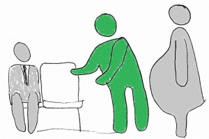 Offer your seat to a pregnant person