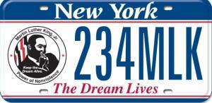 MLK license plate