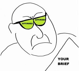 Affirmance goggles